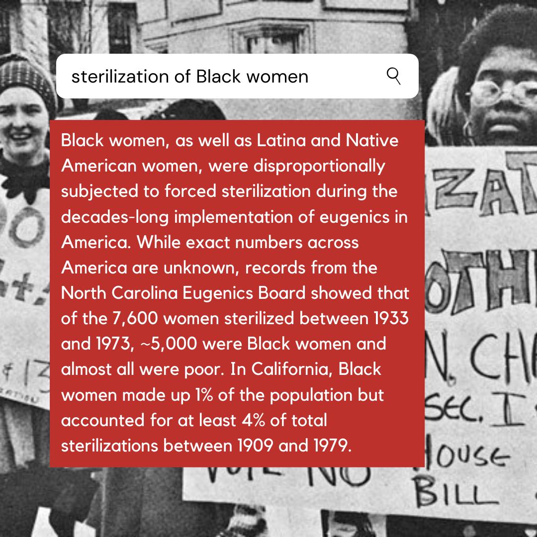 sterilization of Black women